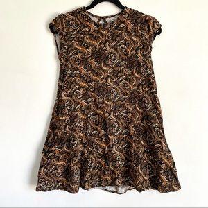Urban Outfitters Mini Paisley Cap Sleeve Dress